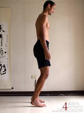 Improve balance while by balancing on the fronts of your feet, neil keleher, sensational yoga poses.