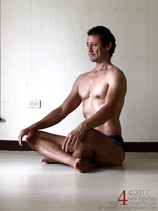sitting tall with spine long. Neil Keleher, Sensational Yoga Poses.
