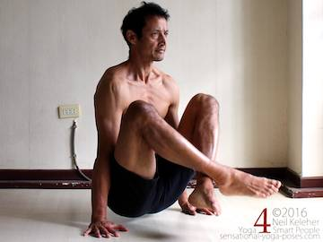 Yoga poses for abs, lifting up with legs crossed, neil keleher, sensational yoga poses.