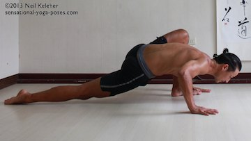 low lunge yoga pose, preparation for splits