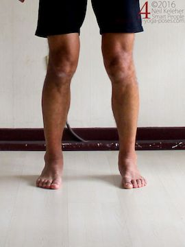 foot exercises, feet and ankes active, shins externally rotated