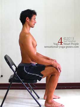using spinal erectrors while sitting, activating lumbar spinal erectors while sitting in a chair, backbening yoga poses
