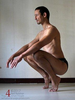 bent knee hip flexor stretches