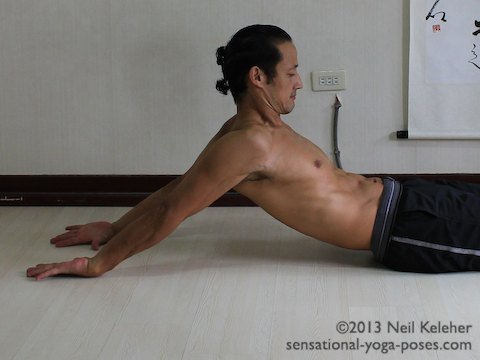 rack arm stretch, shoulder stretch with arms down and back