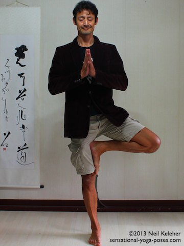 tree pose, relaxing, destressing (for stress). Neil Keleher, Sensational Yoga Poses.